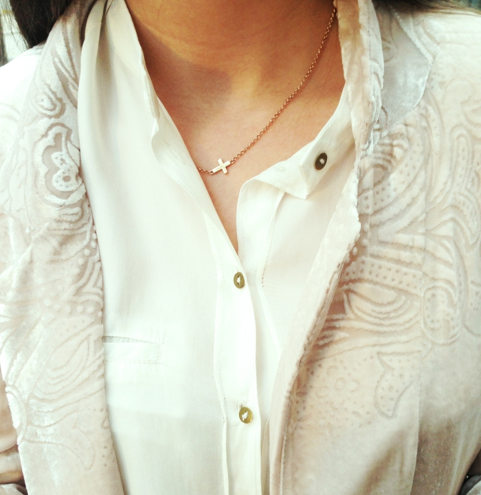 Shirt: Zara Necklace: Aristocrazy